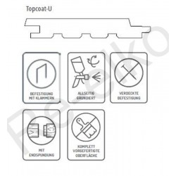 Siparila Topcoat Fassadenprofil 23x295x3900 Grau
