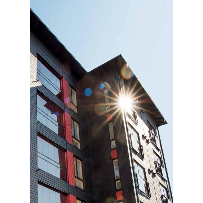 Siparila Topcoat Fassadenprofil 23x170x4500 Schwarz
