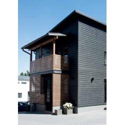 Siparila Topcoat Fassadenprofil 23x170x5100 Schwarz