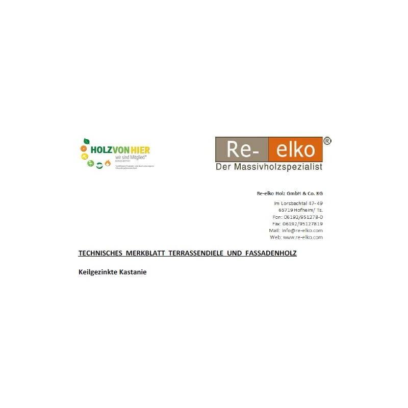 Technisches Merkblatt keilgezinkte Kastanie