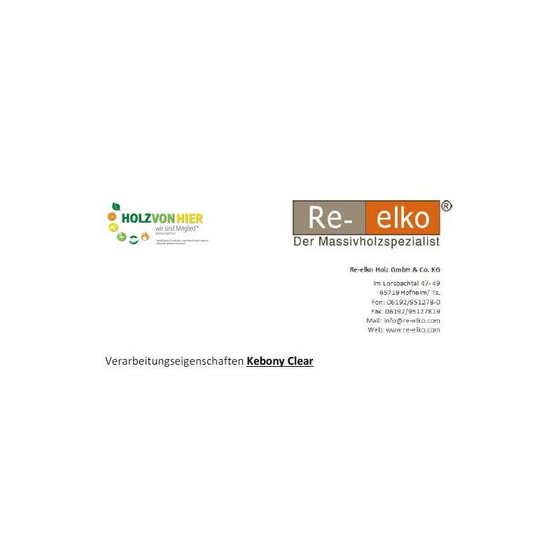 Kebony Clear Verarbeitungseigenschaften