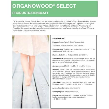 Organowood Produktdatenblatt Select