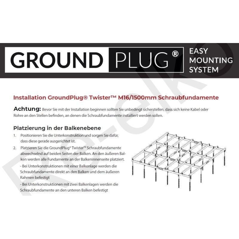 Groundplug Installationsanleitung