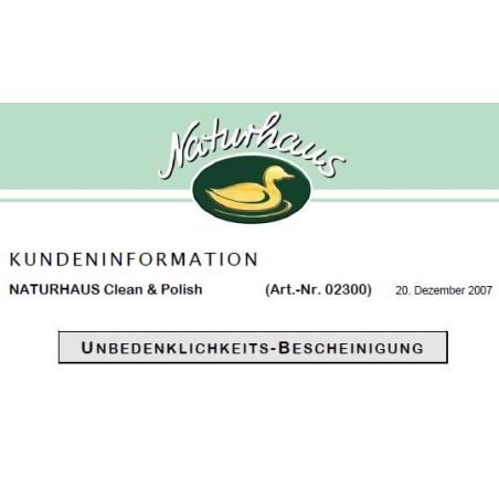 Naturhaus Clean and Polish Kundeninformationen