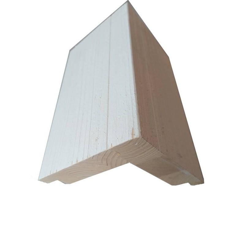 Siparila Topcoat Außenecke 133x133x3660 weiß grundiert