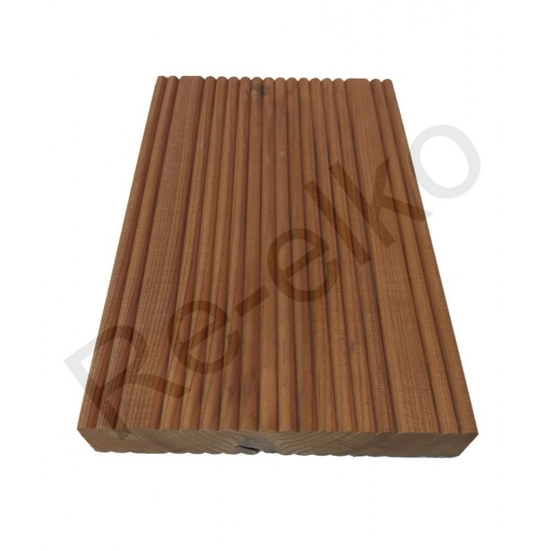 Holzmuster Thermokiefer Fuxprofil 26x137