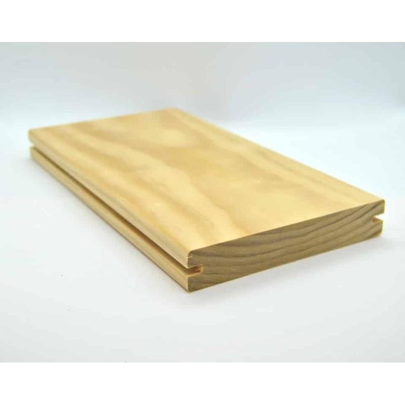Holzmuster Accoya Terrassendiele Selekt 25x142 Seitennut