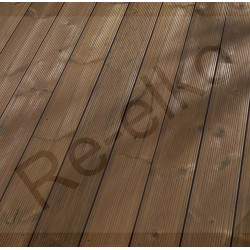 Thermokiefer Terrassendiele Fuxprofil 26x137x3900
