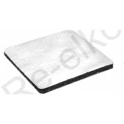 Terrassenlager Gummigranulatpad alukaschiert 200x200x5
