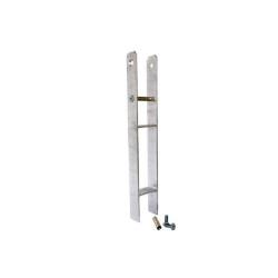 Bodenanker H-Form Stahl 90x90