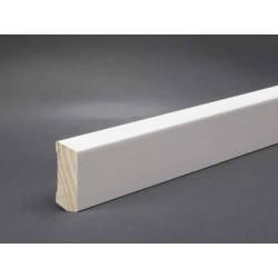 Hartholz Sockelleiste weiß 60x16