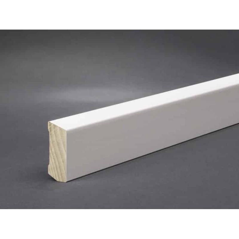 Hartholz Sockelleiste weiß 40x16
