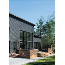 Siparila Topcoat Fassadenprofil 23x120x5100 Grau